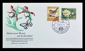 German first day cover letter 1957