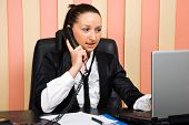 Busiy Business Woman In Office