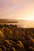 Pancake Rocks, Punakaiki, South Island, New Zealand.