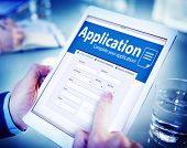 Application Human Resources Hiring Job Recruitment Employment Concept