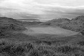 Black And White Ballybunion Links Golf Course