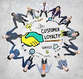 picture of loyalty  - Customer Loyalty Service Support Care Trust Casual Concept - JPG