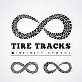 foto of 8-track  - Tire Tracks in Infinity Form - JPG