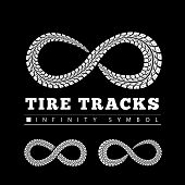image of 8-track  - Tire Tracks in Infinity Form - JPG