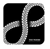picture of 8-track  - Tire Tracks in Infinity Form - JPG