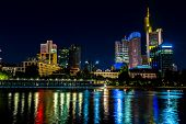 pic of frankfurt am main  - View of Frankfurt am Main skyline at sunset in Germany
