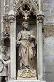 VIENNA, AUSTRIA - OCTOBER 10: Saint Luke the Evangelist at St Stephans Cathedral in Vienna, Austria on October 10, 2014