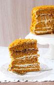 Pumpkin And Orange Layered Cake