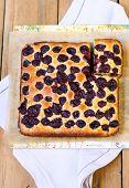 Cherry Cornmeal Cake