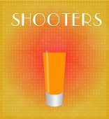 Drinks List Shooters With Red & Golden Background