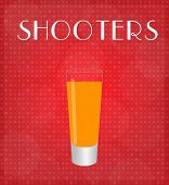 Drinks List Shooters With Red Background