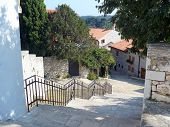 Street-stairs In Rovinj To Sea