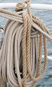 image of historical ship  - Ship rigging in the ship - JPG