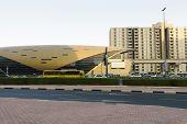 DUBAI - OCT 16: Dubai metro stantion on October 16, 2014. The Dubai Metro is a driverless, fully automated metro rail network in the United Arab Emirates city of Dubai