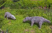 Realistic Model Of Prehistoric Mammals