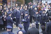 Folding NYPD flag