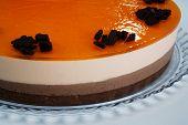 chocolate and orange cream cake