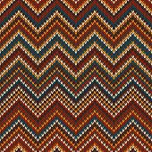 Zigzag Knitted Pattern. Seamless Background
