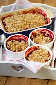 Strawberry And Apricot Crumble