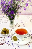 Turkish Delight And  Cup Of Tea