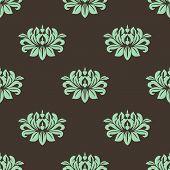 Seamless Stylized Peony Pattern