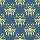 Yellow pansy seamless pattern
