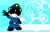 happy panda bear cop cartoon background