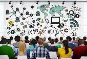 foto of seminars  - People Seminar Global Communications Conference Social Media Concept - JPG