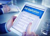 Job Application Hiring Employment Digital Tablet Browsing Concept