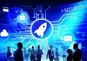 Business People Commuter Technology Security Launch Growth Concept