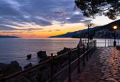 Sunset in opatija