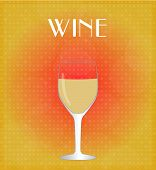 Drinks List White Wine With Red & Golden Background