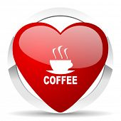espresso valentine icon hot cup of caffee sign