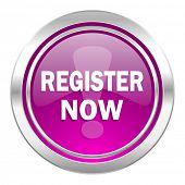 register now violet icon