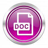 doc file violet icon