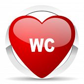 toilet valentine icon wc sign
