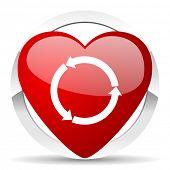 refresh valentine icon reload valentine icon
