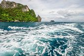 Islands in Andaman sea near Phi Phi islands. Thailand
