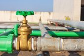 pic of groundwater  - Valve mounted on roof top industry building  - JPG