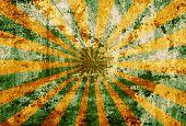 Sunbeam on grunge background