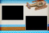 pic of baptism  - Decorative template with photo frames - JPG