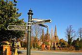 Tourist information sign, Lichfield.