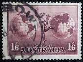 Australian postage stamp with Hermes.