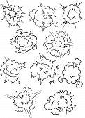 Comics Explosion Clouds Set
