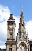 foto of west midlands  - Chamberlain memorial in Chamberlain Square with the clock tower of Birmingham museum and art gallery to the rear Birmingham West Midlands England UK Western Europe - JPG