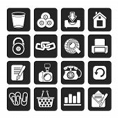 Silhouette Website and internet icons
