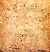 pic of mesopotamia  - Ancient sumerian stone carving with cuneiform scripting - JPG