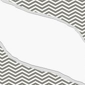 foto of chevron  - Gray and White Chevron Frame with Torn Background with center for copy - JPG