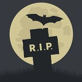 Simple Rest in Peace Icon Design