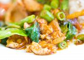 Spicy Stir-fried Pork With Red Curry Paste.